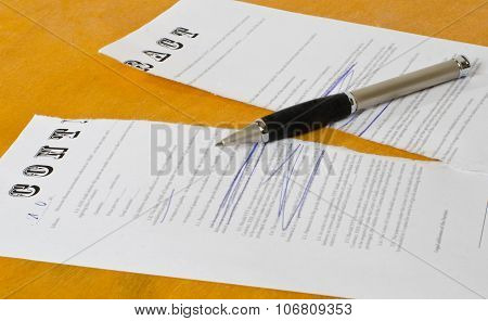 Conceptual Photography Of The Cancellation Of The Contract