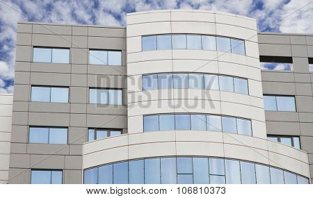 glass and cement building