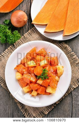 Vegetables Ragout On Country Table