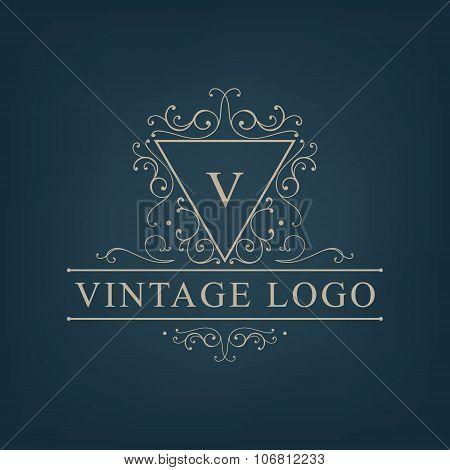 Vector luxury, royal monogram logo, icon isolated.