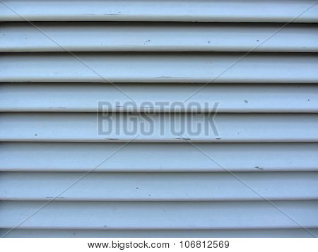 Old Jalousie Window With Wooden Slats Gray Painted Texture