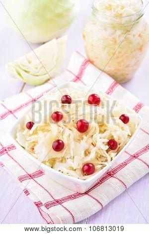 Sauerkraut With Cranberries
