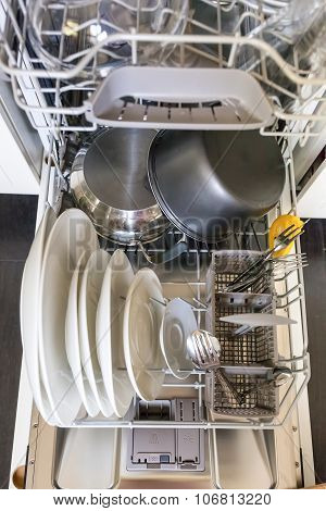 Open Dishwasher Machine