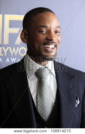 LOS ANGELES - NOV 1:  Will Smith at the 19th Annual Hollywood Film Awards at the Beverly Hilton Hotel on November 1, 2015 in Beverly Hills, CA