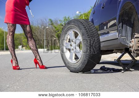 Sexually dressed female mechanic body