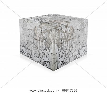Concrete Cube Isolated