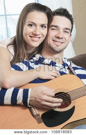 Sofa home guitar