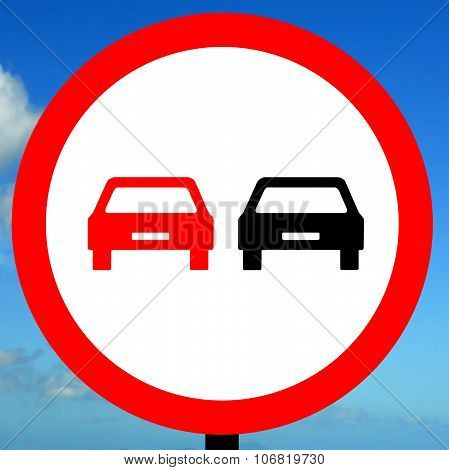 No overtaking road traffic sign