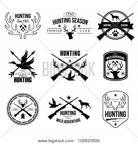 Badges Labels Logo Design Elements Hunting