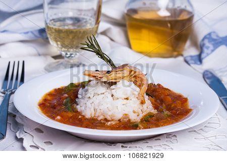 Louisiana Soup Gumbo With Shrimp