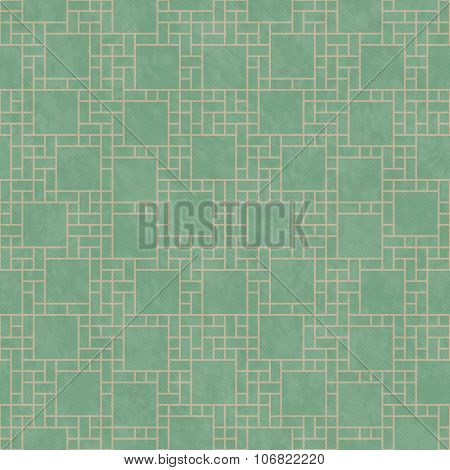 Green And Yellow Square Abstract Geometric Design Tile Pattern Repeat Background