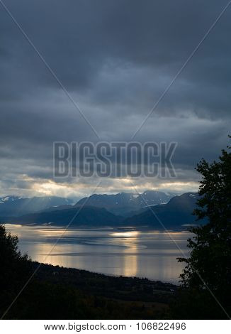 Kachemak Bay Under Clouds