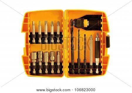 Drill Bits in Plastic Case