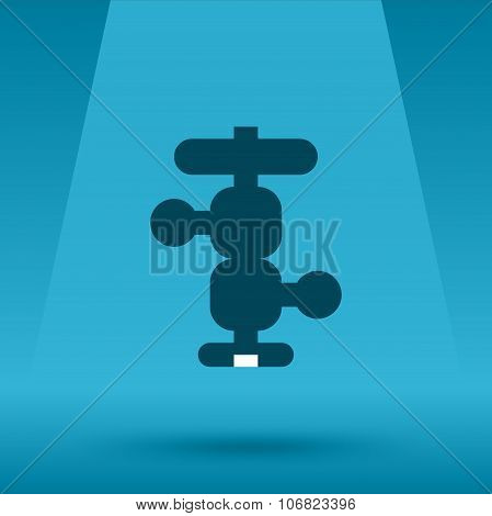 Camera tripod ball head vector flat icon