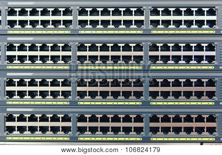 plurality of copper ports RJ45