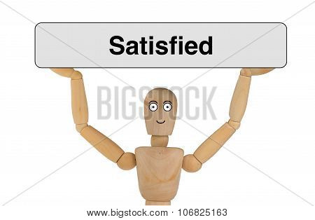 Puppet With Satisfied Face