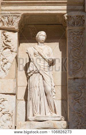 Sophia, Wisdom Statue In Ephesus Ancient City