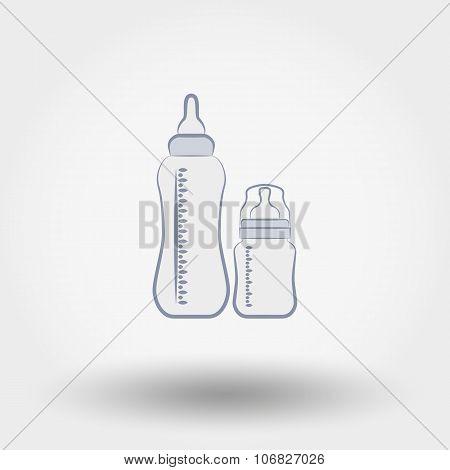 Baby feeding bottles.