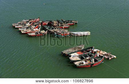 Fishing boats in El Jadida, Morocco, Africa