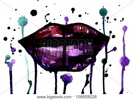 Plush Lips With Splatters
