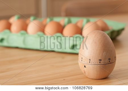 Breakfast eggs and timer