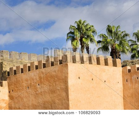 City wall in Meknes, Morocco, Africa