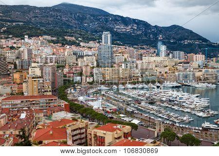 View of Monaco, Monte Carlo Harbor