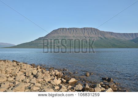 Lake Of Putorana Plateau In Summer.