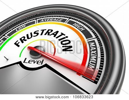 Frustration Level To Maximum Conceptual Meter