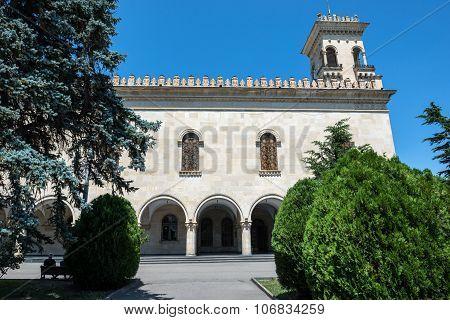 Gori, Georgia - July 21, 2015: Joseph Stalin Museum in Gori town