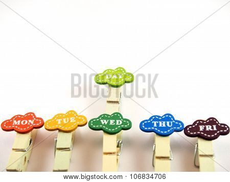 Handmade Wooden Paper Clips, Design For Business Day
