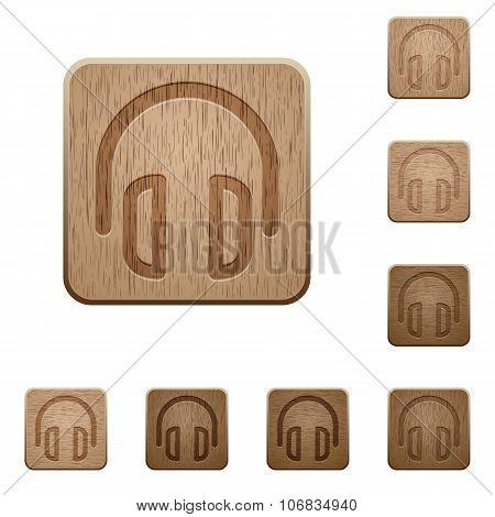 Headset Wooden Buttons
