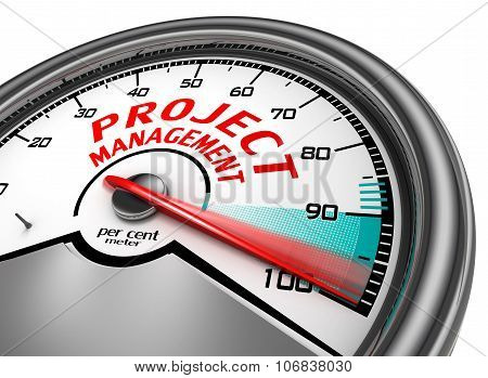 Project Management To Hundred Per Cent Conceptual Meter