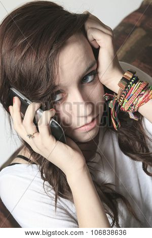 A Anxiety Teenager on the Phone having problem