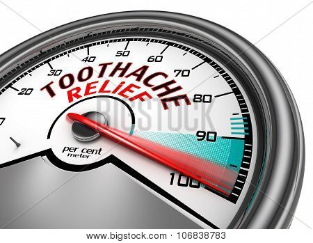 Toothache Relief To Hundred Per Cent Conceptual Meter