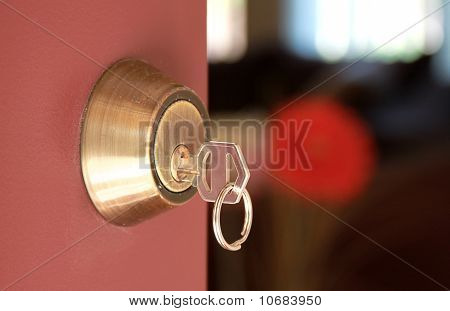 Door With Lock And Key