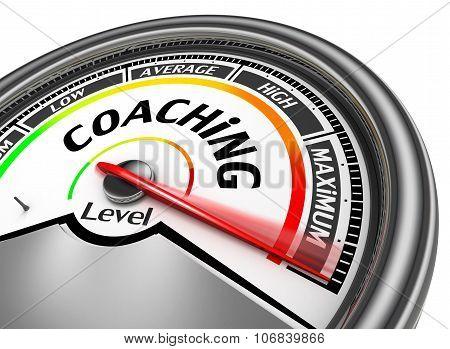 Coaching Level Conceptual Meter Indicate Maximum