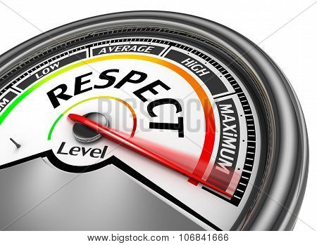 Respect Level Conceptual Meter Indicate Maximum