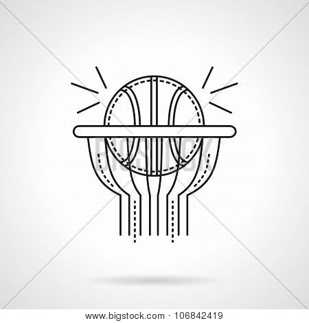 Basketball shot flat line vector icon