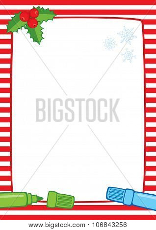 Christmas Frame And Markers A3 Stripes