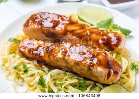 Sweet and Spicy Orange Chilli-Glazed Salmon