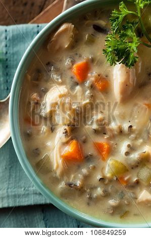 Homemade Wild Rice And Chicken Soup