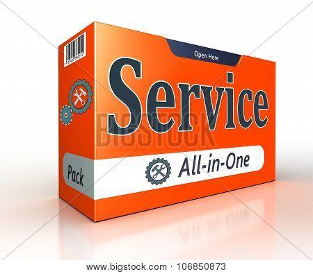 Service Advertising Orange Pack Concept