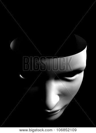 Human Face Like Mask Conceptual Image