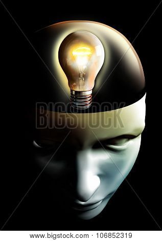 Idea Is Born In Human Head