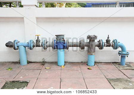 Main faucet of water