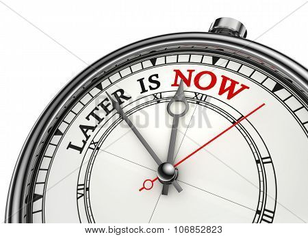 Later Is Now Conceptual Clock