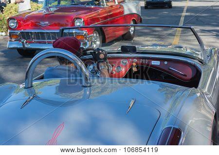 Shelby Cobra Anda Bel Air On Display