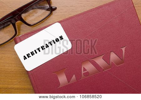 Book Arbitration Acts With Business Card