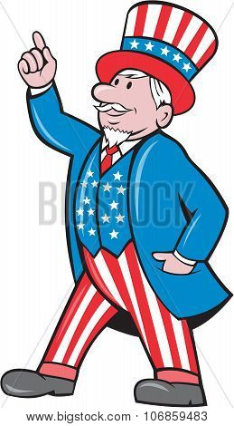 Uncle Sam American Pointing Up Cartoon